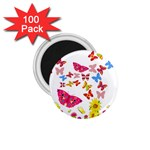 Butterfly Beauty 1.75  Button Magnet (100 pack)