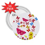 Butterfly Beauty 2.25  Button (10 pack)