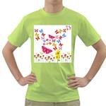 Butterfly Beauty Men s T-shirt (Green)