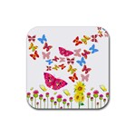 Butterfly Beauty Drink Coaster (Square)