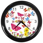 Butterfly Beauty Wall Clock (Black)