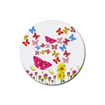Butterfly Beauty Drink Coasters 4 Pack (Round)