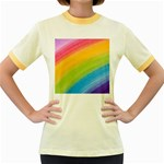 Acrylic Rainbow Women s Ringer T-shirt (Colored)