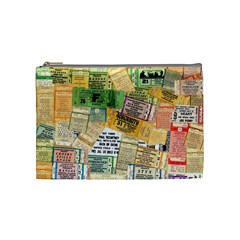 Retro Concert Tickets Cosmetic Bag (medium) by StuffOrSomething