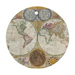 1794 World Map Round Ornament