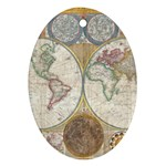 1794 World Map Oval Ornament