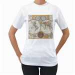 1794 World Map Women s Two-sided T-shirt (White)