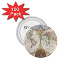 1794 World Map 1.75  Button (100 pack)