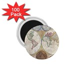 1794 World Map 1.75  Button Magnet (100 pack)
