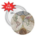 1794 World Map 2.25  Button (10 pack)