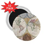 1794 World Map 2.25  Button Magnet (10 pack)