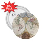 1794 World Map 2.25  Button (100 pack)