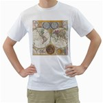 1794 World Map Men s Two-sided T-shirt (White)