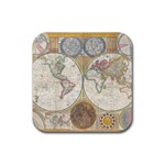 1794 World Map Drink Coasters 4 Pack (Square)