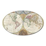 1794 World Map Magnet (Oval)