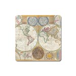 1794 World Map Magnet (Square)