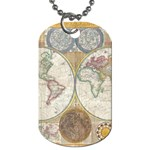 1794 World Map Dog Tag (One Sided)