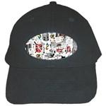 Medieval Mash Up Black Baseball Cap