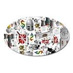 Medieval Mash Up Magnet (Oval)