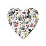 Medieval Mash Up Magnet (Heart)