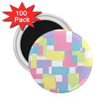 Mod Pastel Geometric 2.25  Button Magnet (100 pack)