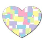 Mod Pastel Geometric Mouse Pad (Heart)