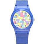Mod Pastel Geometric Plastic Sport Watch (Small)