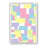 Mod Pastel Geometric Apple iPad Mini Case (White)