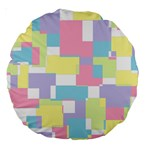 Mod Pastel Geometric 18  Premium Round Cushion