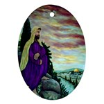 Jesus, A Man Of Sorrows   Ave Hurley   Ornament (Oval)