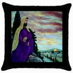 Jesus, A Man Of Sorrows   Ave Hurley   Throw Pillow Case (Black)