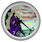 Jesus, A Man Of Sorrows   Ave Hurley   Wall Clock (Silver)