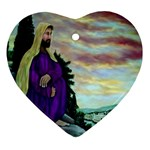 Jesus, A Man Of Sorrows   Ave Hurley   Heart Ornament (Two Sides)
