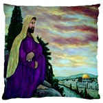 Jesus, A Man Of Sorrows   Ave Hurley   Large Cushion Case (One Side)