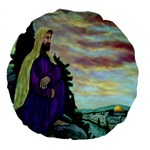 Jesus, A Man Of Sorrows   Ave Hurley   18  Premium Round Cushion