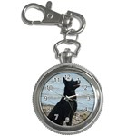 Black German Shepherd Key Chain Watch