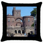 Helsingborg Castle Black Throw Pillow Case