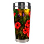 Poppies - Ave Hurley - Stainless Steel Travel Tumbler