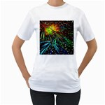 Exploding Fireworks Women s Two-sided T-shirt (White)
