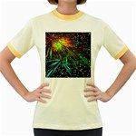 Exploding Fireworks Women s Ringer T-shirt (Colored)