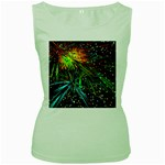 Exploding Fireworks Women s Tank Top (Green)