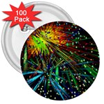 Exploding Fireworks 3  Button (100 pack)