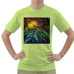 Exploding Fireworks Men s T-shirt (Green)