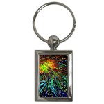 Exploding Fireworks Key Chain (Rectangle)