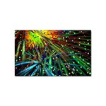 Exploding Fireworks Sticker (Rectangle)