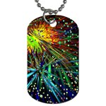Exploding Fireworks Dog Tag (One Sided)
