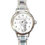 Domestically Disabled Round Italian Charm Watch