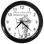 Domestically Disabled Wall Clock (Black)