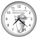 Domestically Disabled Wall Clock (Silver)