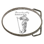 Domestically Disabled Belt Buckle (Oval)